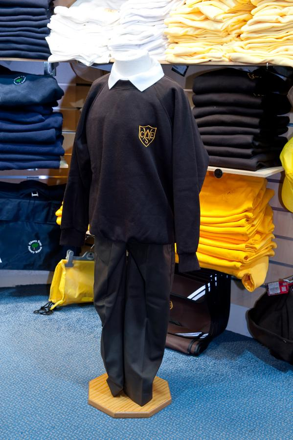 The Wickford Infant School - Sweatshirt (R-neck & V-neck) Jumpers with School Logo BROWN (R-neck) / 44 School Uniform Centres Sweatshirts school-uniform-centres.myshopify.com Schoolwear Centres