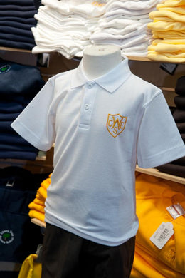 The Wickford Infant School - White Polo Shirt with School Logo | School Uniform Centres