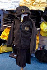 The Wickford Infant School - Brown Fleece Jacket with School Logo | School Uniform Centres