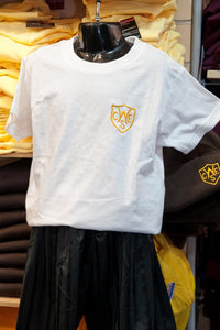 WICKFORD INF - WHITE T-SHIRT WITH SCHOOL LOGO