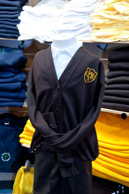 The Wickford Infant School - Brown Sweatshirt Cardigan with School Logo - Schoolwear Centres | School Uniform Centres