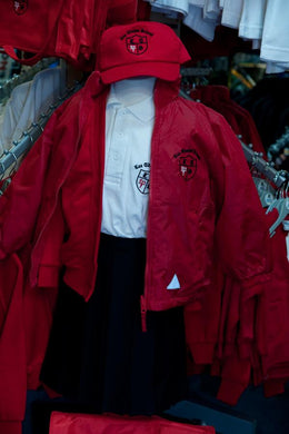 Lee Chapel Primary School - Red Reversible Jacket with School Logo - Schoolwear Centres