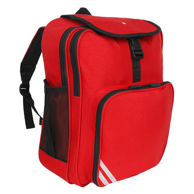 Lee Chapel Primary School - Red Junior Backpack with School Logo - Schoolwear Centres | School Uniform Centres