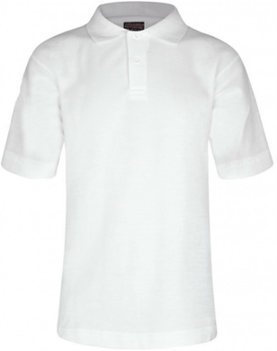 Millhouse Primary School and Nursery - White Polo Shirt with School Logo | School Uniform Centres