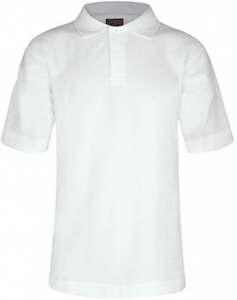 Millhouse Primary School and Nursery - White Polo Shirt with School Logo WHITE / 44 School Uniform Centres Polo Shirts school-uniform-centres.myshopify.com Schoolwear Centres