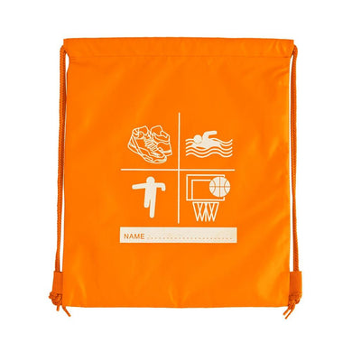 Millhouse Primary School and Nursery - Printed Flo-Orange P E Bag FLO-ORANGE / PE BAGS School Uniform Centres P E BAGS school-uniform-centres.myshopify.com Schoolwear Centres
