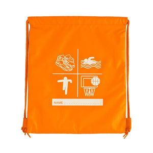 Millhouse Primary School and Nursery - Printed Flo-Orange P E Bag - Schoolwear Centres
