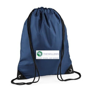 The Willows Primary School - Navy Bookbag, P E Bag & Backpacks with School Logo - Schoolwear Centres | School Uniform Centres