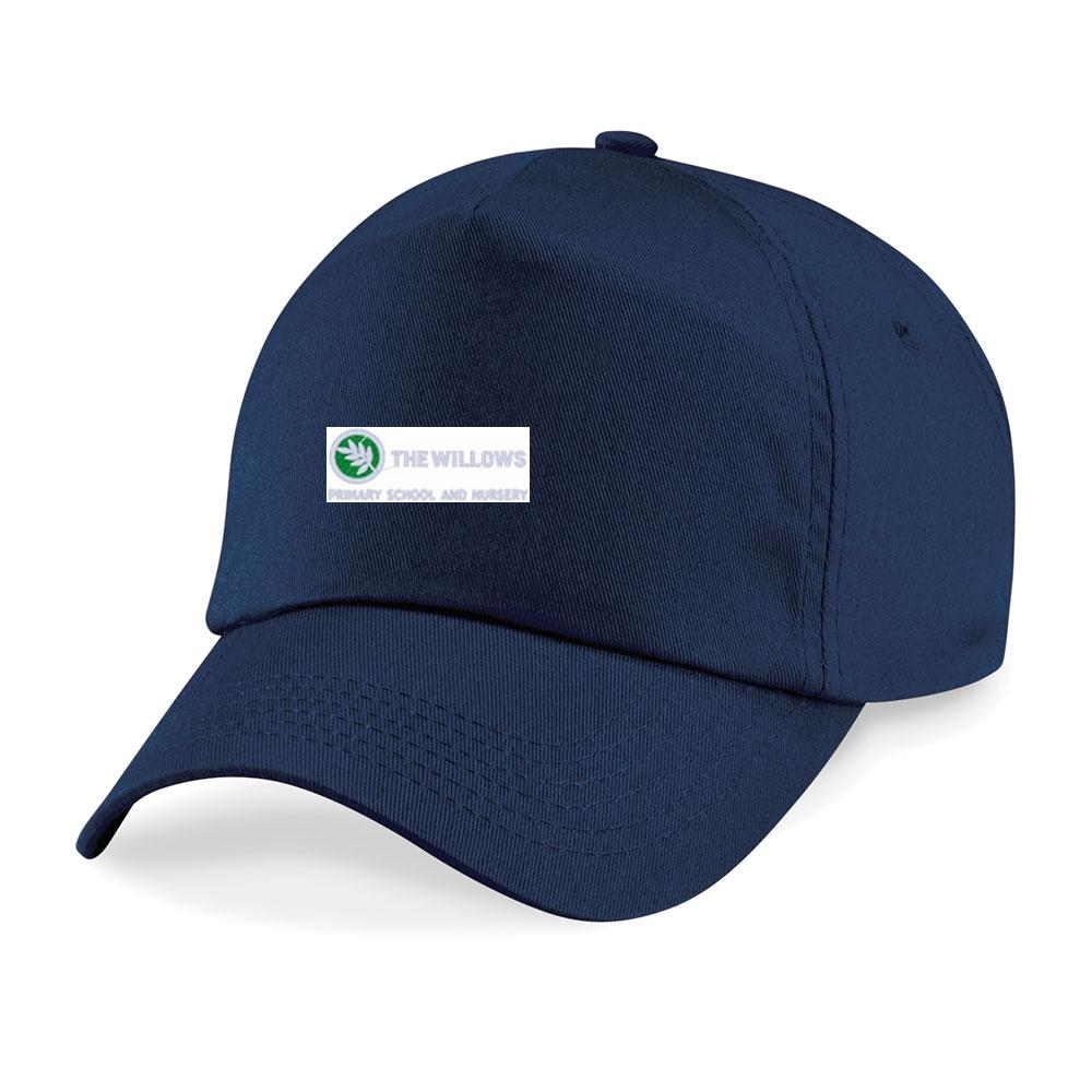 The Willows Primary School - Navy Baseball Cap & Beanie Hat with School Logo Navy / Baseball Cap School Uniform Centres Caps school-uniform-centres.myshopify.com Schoolwear Centres
