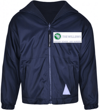 The Willows Primary School - Navy Reversible Jacket with School Logo - Schoolwear Centres | School Uniform Centres