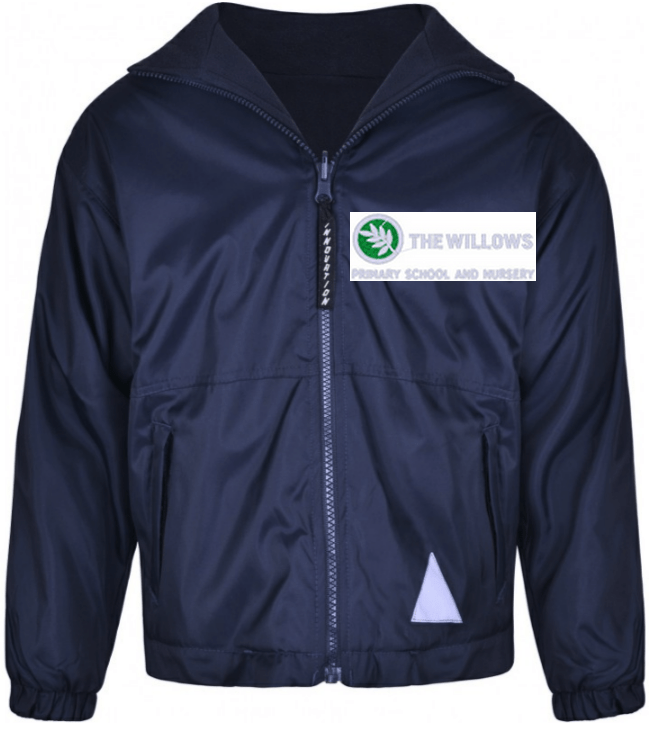The Willows Primary School - Navy Reversible Jacket with School Logo NAVY / 44 School Uniform Centres Outdoor school-uniform-centres.myshopify.com Schoolwear Centres