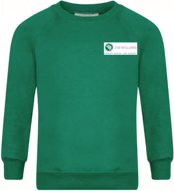 The Willows Primary School - Emerald Sweatshirt Jumper with School Logo - Schoolwear Centres | School Uniform Centres