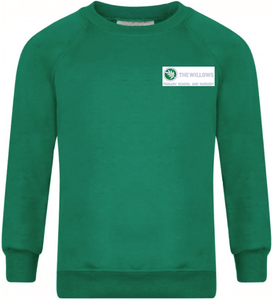 The Willows Primary School - Emerald Sweatshirt Jumper with School Logo | Schoolwear Centres