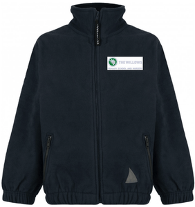 The Willows Primary School - Navy Fleece Jacket with School Logo | School Uniform Centres