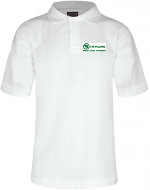 The Willows Primary School - White Polo Shirt with School Logo | School Uniform Centres