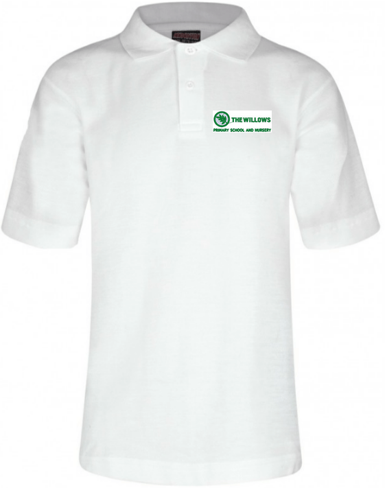 The Willows Primary School - White Polo Shirt with School Logo - Schoolwear Centres | School Uniform Centres