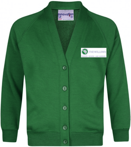 The Willows Primary School - Emerald Sweatshirt Cardigan with School Logo | School Uniform Centres
