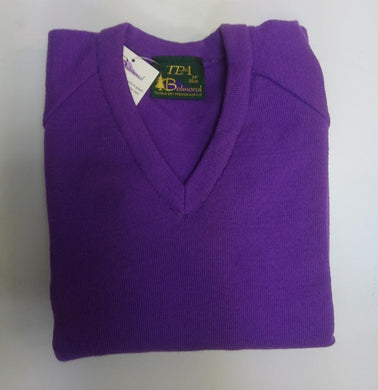 KNITTED PURPLE JUMPER FOR GIRLS - Schoolwear Centres