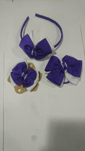 Hairband, Hairclips & Bobble HAIRBAND / PURPLE/WHITE School Uniform Centres Accessories school-uniform-centres.myshopify.com Schoolwear Centres