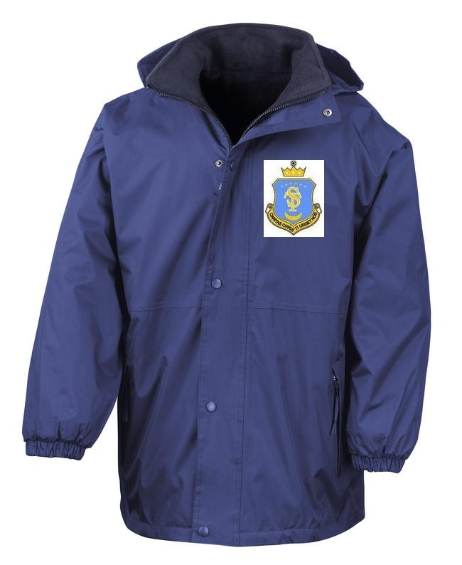 St Teresa's Catholic Primary School - Royal Reversible Storm Jacket with School Logo - Schoolwear Centres | School Uniform Centres