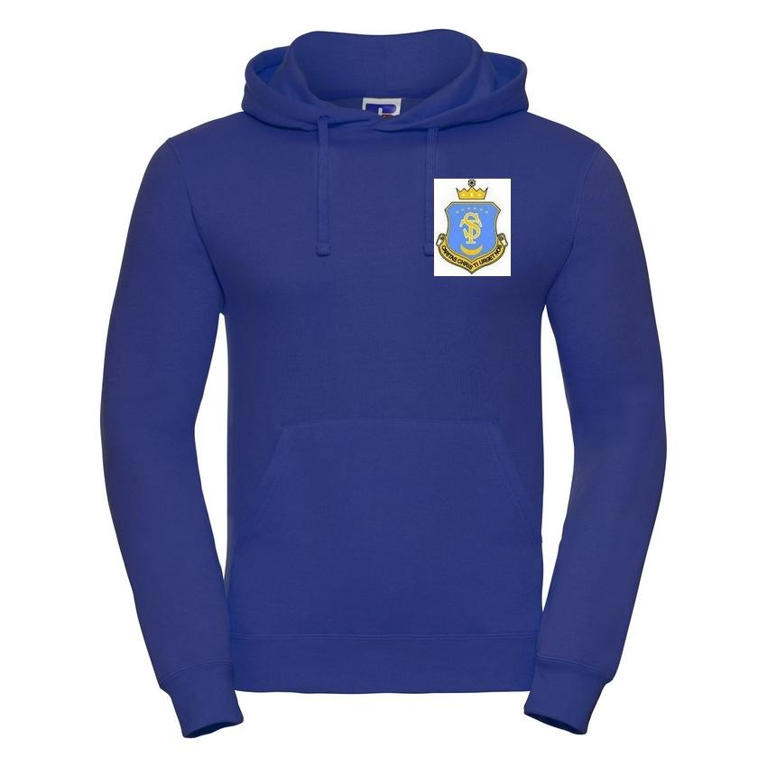 St Teresa's Catholic Primary School - Royal Hooded Sweatshirt with School Logo - Schoolwear Centres | School Uniform Centres