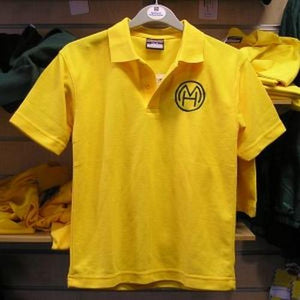 Milton Hall Primary School - Gold Polo Shirt with School Logo | Schoolwear Centres