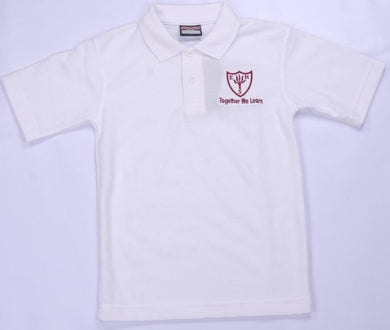 Earls Hall Primary School - White Polo Shirt with School Logo | School Uniform Centres