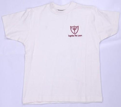 Earls Hall Primary School - White P E T-Shirt with School Logo - Schoolwear Centres