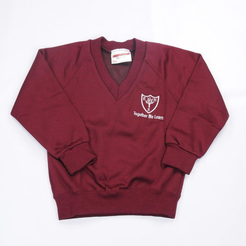 Earls Hall Primary School - V-Neck Sweatshirt Jumper with School Logo - Schoolwear Centres | School Uniform Centres