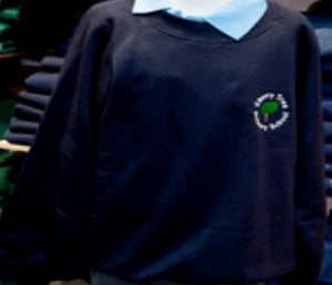 Cherry Tree Primary School - Navy (R-Neck) Sweatshirt with School Logo - Schoolwear Centres | School Uniform Centres