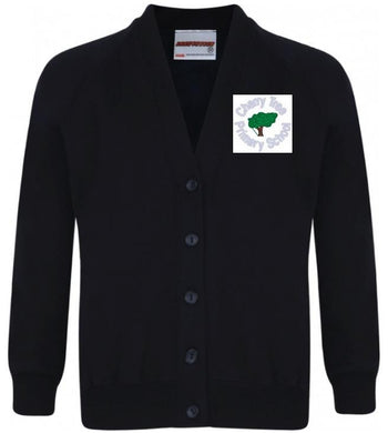 Cherry Tree Primary School - Navy Sweatshirt Cardigan with School Logo - Schoolwear Centres | School Uniform Centres
