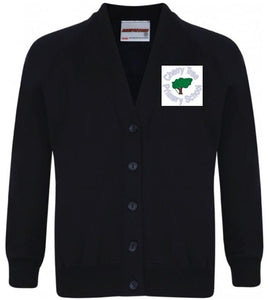 Cherry Tree Primary School - Navy Sweatshirt Cardigan with School Logo | School Uniform Centres