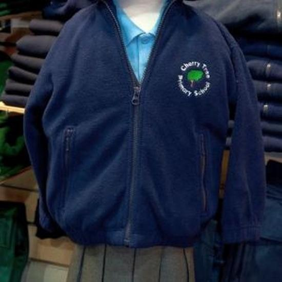 Cherry Tree Primary School - Navy Fleece Jacket with School Logo - Schoolwear Centres | School Uniform Centres