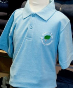 Cherry Tree Primary School - Sky Polo Shirt with School Logo - Schoolwear Centres | School Uniform Centres