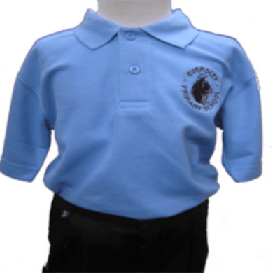 Eversley Primary School - Sky Polo Shirt with School Logo - Schoolwear Centres | School Uniform Centres