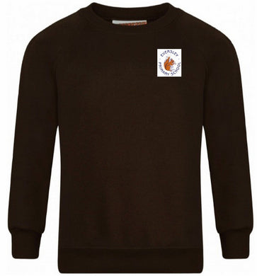 Eversley Primary School - Brown Sweatshirt with School Logo - Schoolwear Centres