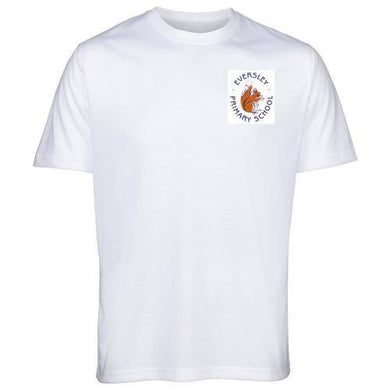 Eversley Primary School - White T-Shirt with School Logo | School Uniform Centres