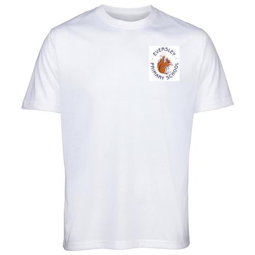 Eversley Primary School - White T-Shirt with School Logo WHITE / 38 School Uniform Centres T-Shirts school-uniform-centres.myshopify.com Schoolwear Centres