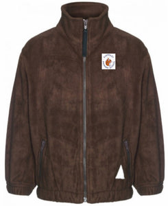 Eversley Primary School - Brown Fleece Jacket with School Logo - Schoolwear Centres
