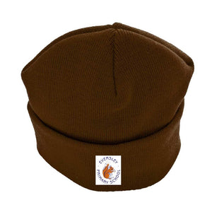 Eversley Primary School - Beanie/Ski Hats with School Logo BROWN / ONE SIZE School Uniform Centres Hat school-uniform-centres.myshopify.com Schoolwear Centres