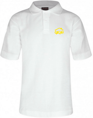 Fairhouse Primary School - White Polo Shirt with School Logo WHITE / 44 School Uniform Centres Polo Shirts school-uniform-centres.myshopify.com Schoolwear Centres