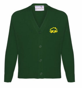 Fairhouse Primary School - Bottle Knitwear (Knitted) Cardigan with School Logo - Schoolwear Centres | School Uniform Centres