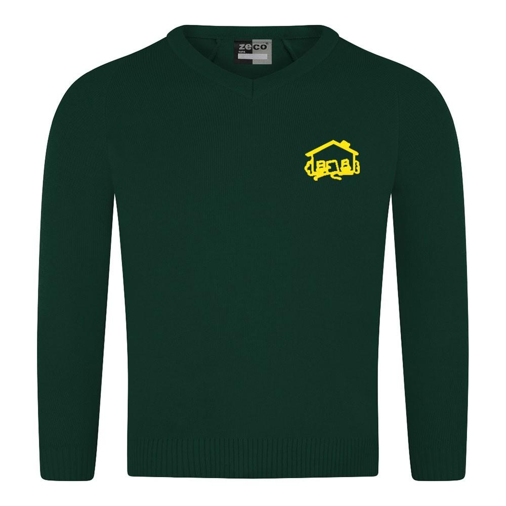 Fairhouse Primary School - Bottle Knitwear (Knitted) Jumper with School Logo - Schoolwear Centres | School Uniform Centres