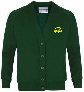 "Fairhouse Primary School - Bottle Sweatshirt Cardigan with School Logo BOTTLE / 38"" S School Uniform Centres Sweatshirts school-uniform-centres.myshopify.com Schoolwear Centres"