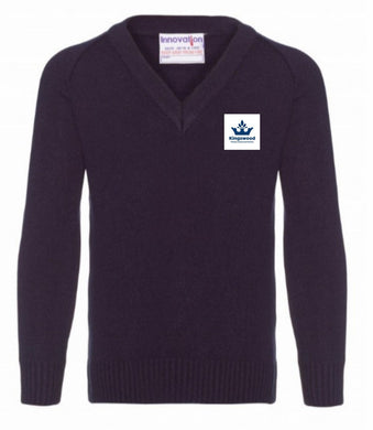 Kingswood Primary School - Navy Knitwear (Knitted) Jumper with School Logo - Schoolwear Centres