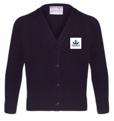 Kingswood Primary School - Navy Knitwear (Knitted) Cardigan with School Logo - Schoolwear Centres | School Uniform Centres