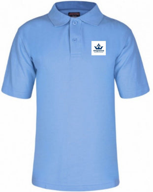 Kingswood Primary School - Sky Polo Shirt with School Logo - Schoolwear Centres