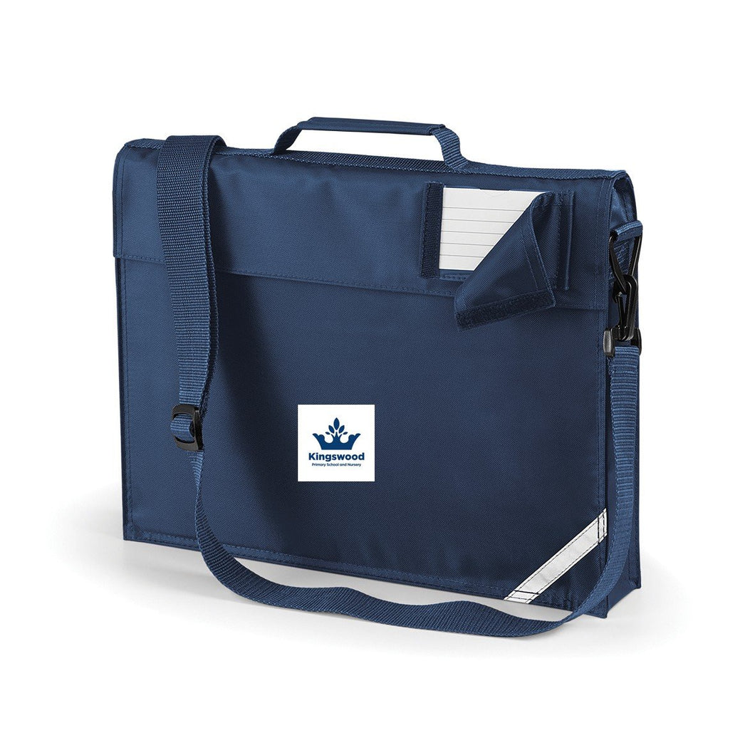 Kingswood Primary School - Navy Schoolbags with School Logo FRENCH NAVY / P E Bag School Uniform Centres BOOK BAGS school-uniform-centres.myshopify.com Schoolwear Centres