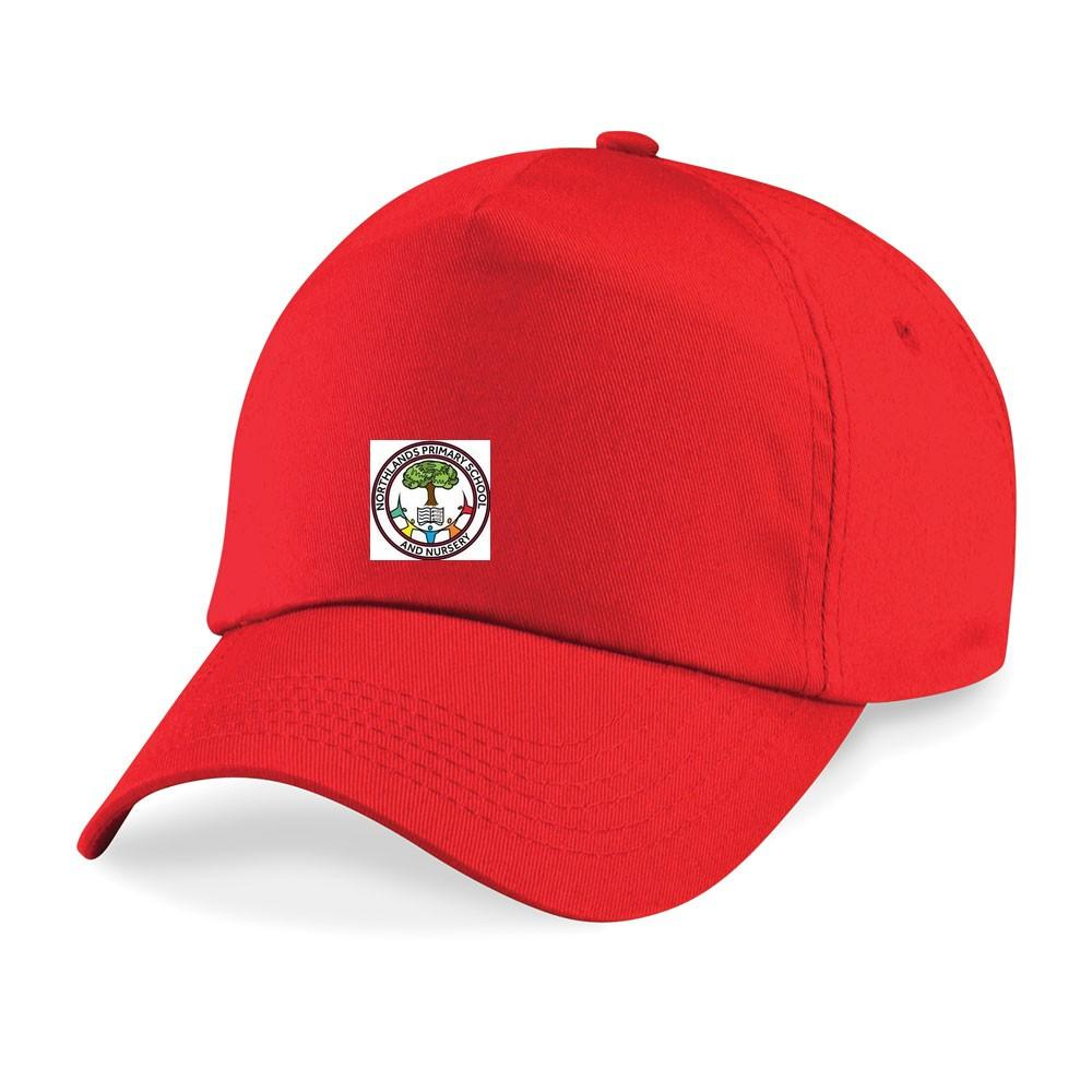 Northlands Primary School - Red Baseball Cap with School Logo - Schoolwear Centres | School Uniform Centres