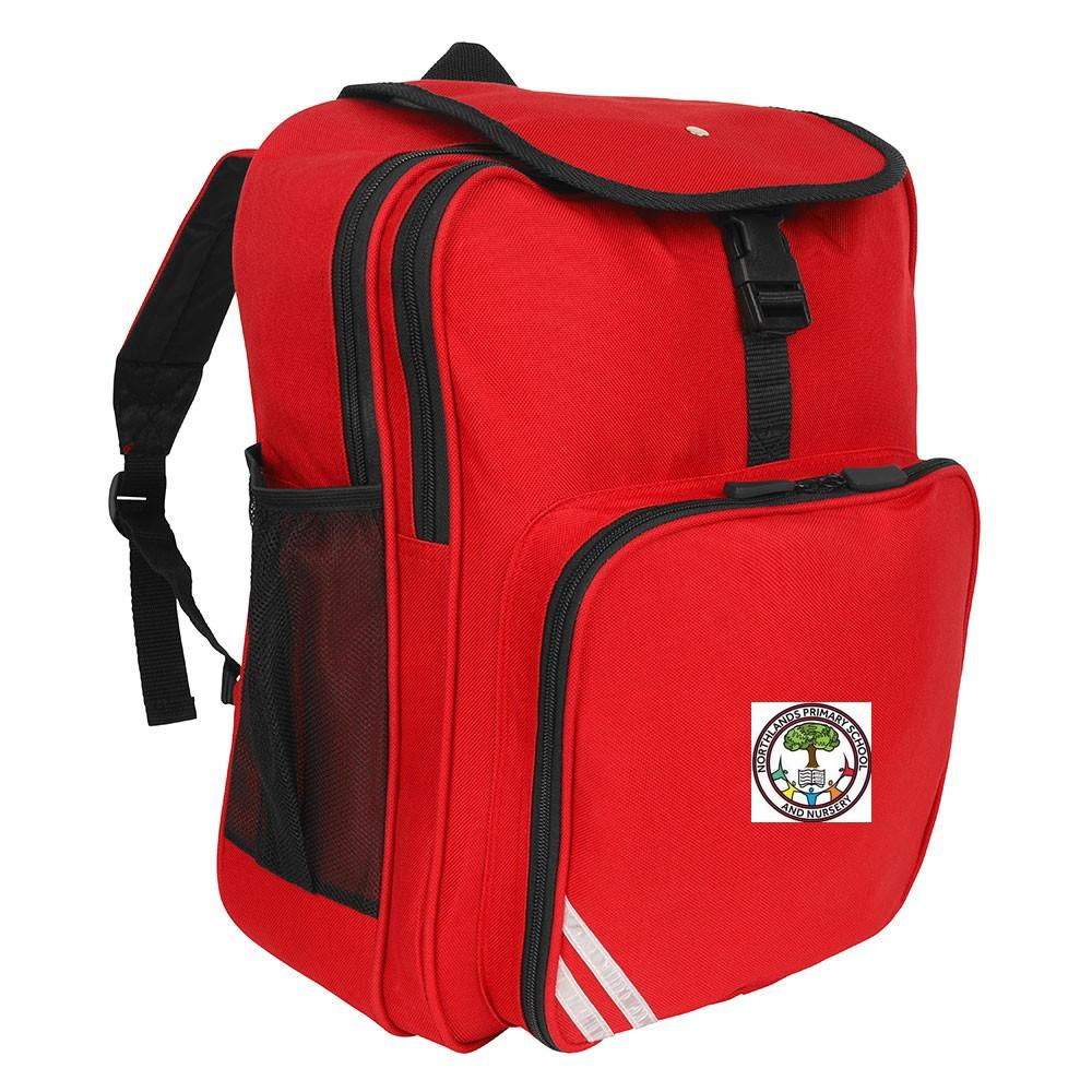 Northlands Junior School - Red Junior Backpack with School Logo | Schoolwear Centres